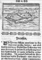 Zeitungsnachricht mit Illustration von 1725
