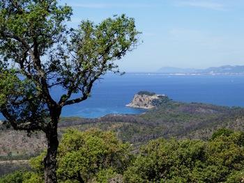 D'un peu plus loin, on découvre le rocher de Brégançon.