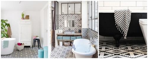 Id es astuces d co atelier d co des tilleuls - Carreaux de ciment salle de bain ...