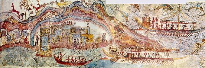 Les fresques d'Akrotiri (Santorin)