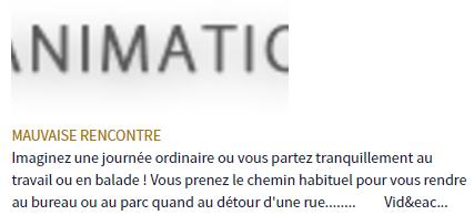 NEWS DE L'ETE