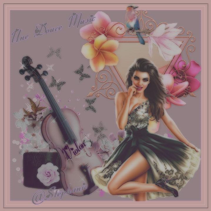 une création sur une douce music de violon
