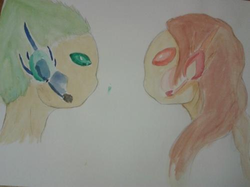 Duo aquarelle