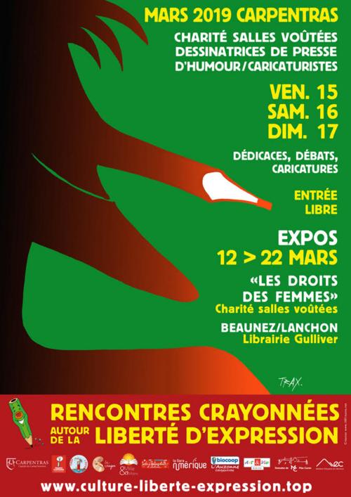festival de dessin de presse Carpentras 15 au 22 mars 2019 TRAX