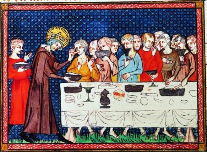 Encyclopédie Larousse en ligne - Saint Louis servant les pauvres à table