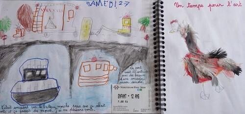 Son premier carnet de voyage à 5 ans 1/2