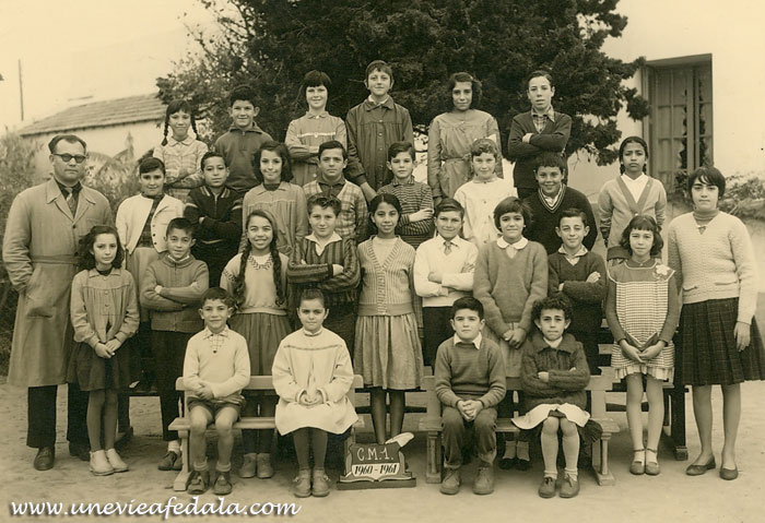 Photo de classe Fedala - ecole du port CM1 - Année scolaire 1960-61