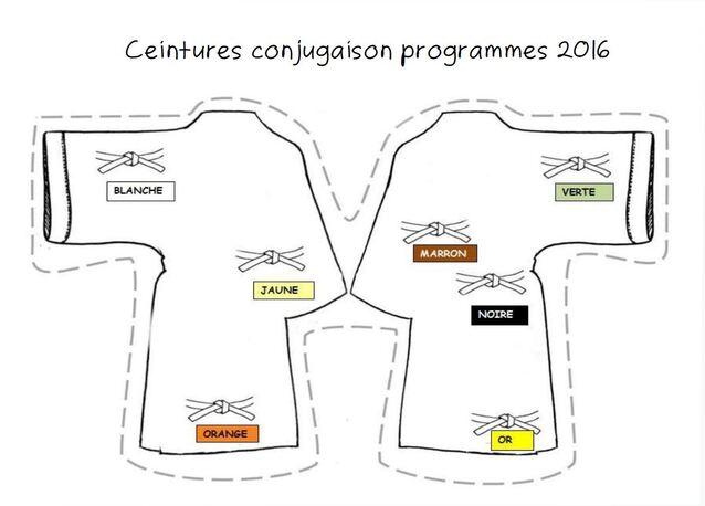 ceintures de conjugaison programmes 2016
