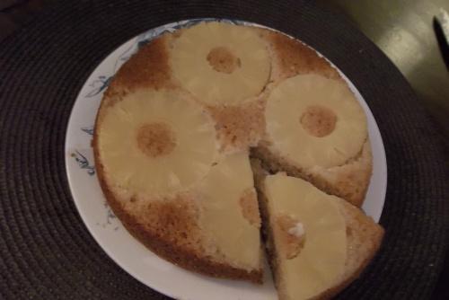 mon 1er gâteau renviersé à l'ananas