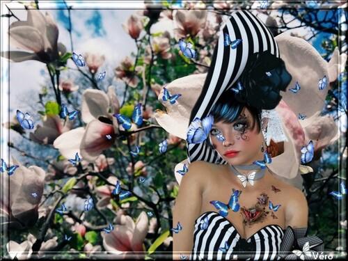 """Défi chez Fée capucine """"Le papillon blanc"""""""