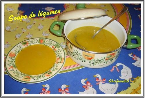 Hiver = Froid = Soupe de légumes