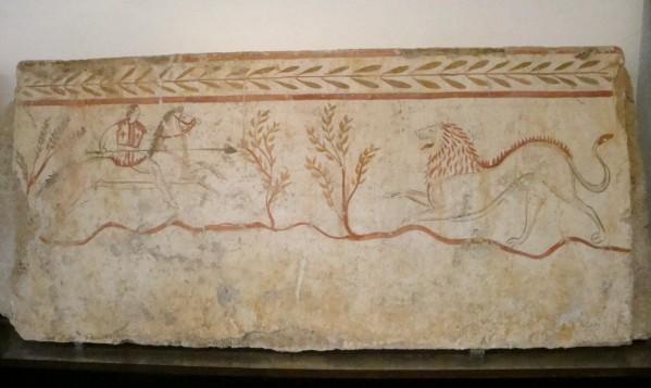 Paestum, tombe peinte d'époque lucanienne 2