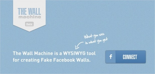 The Wall Machine : creat your fake Facebook wall