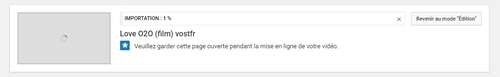 Upload en cours