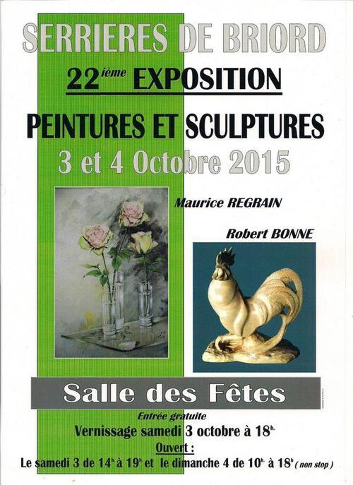 22ème exposition  peintures et sculptures à Serrières-de-Briord