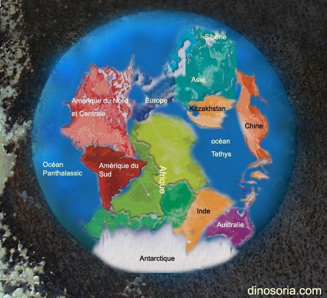 Derive des continents au permien