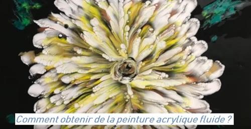 Dessin et peinture - vidéo 2918 : Comment préparer sa peinture acrylique fluide pour réaliser une fleur ? - peinture abstraite.