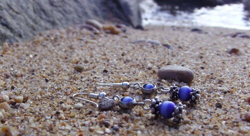 Boucles d'oreilles bord de mer...