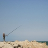 Sahara Occidental Dakhla Papy à la pêche