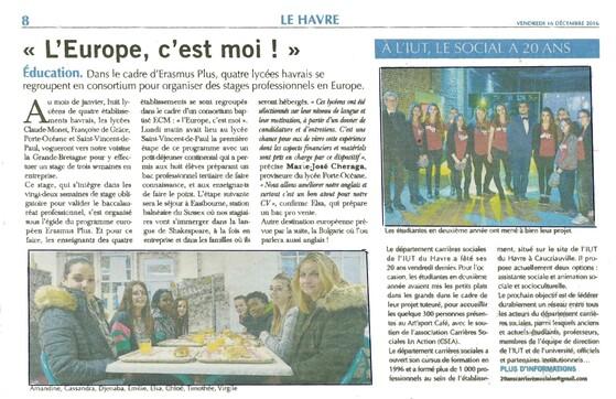Article de presse Le Havre Libre