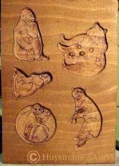 Moule à biscuit en bois artisanal en cours de sculpture - Arts et sculpture: sculpteurs figuratifs