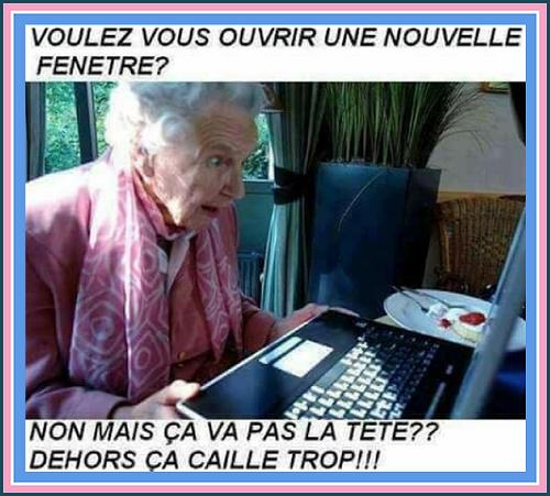 Ahhhh !!!! l'informatique....