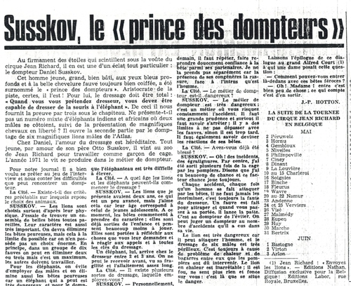 Jean Richard, le cirque des vedettes : Daniel  Susskov