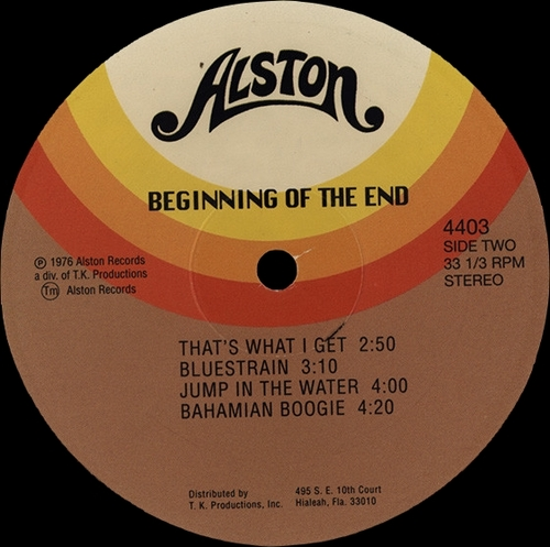 "The Beginning Of The End : Album "" Beginning Of The End "" Alston Records 4403 [ US ]"