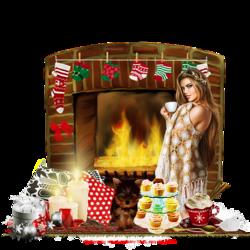 Cheminée compte à rebours Noël code inclu