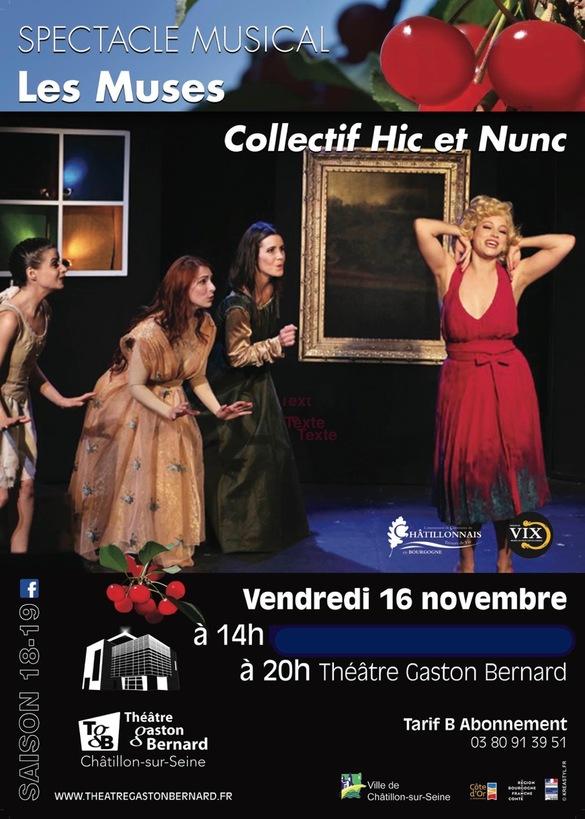 Les Muses bientôt au Théâtre Gaston Bernard, une folle soirée de gaieté !