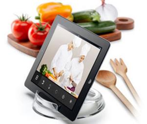 J'aime ma tablette jusque dans la cuisine...!