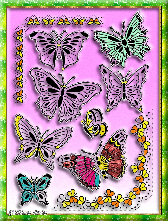 **Papillons**Coloriages PF7