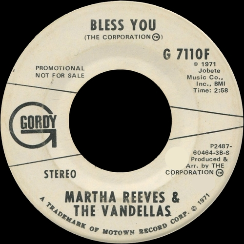 "Martha Reeves & The Vandellas : Album "" Black Magic "" Gordy Records G 958L [ US ]"