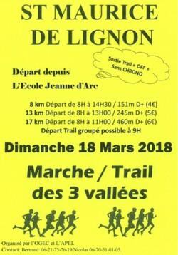 Organisation sixième édition Marche des des 3 Vallées de l'école du Sacré-Coeur