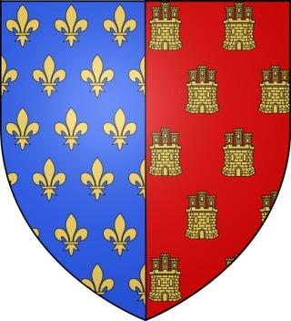 Blason d'Alphonse, comte de Poitiers et de Toulouse, fils de Louis VIII le Lion et de Blanche de Castille (XIIIe siècle)