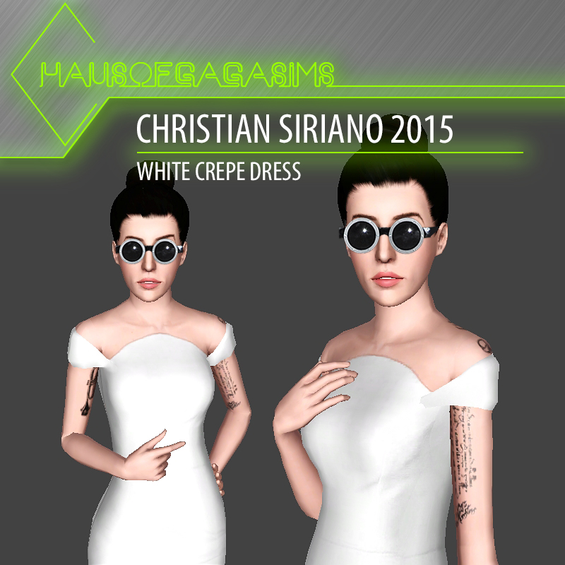 CHRISTIAN SIRIANO 2015 WHITE CREPE DRESS