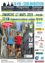 Semi-marathon Locronan Plogonnec Quimper - Dimanche 17 mars 2019