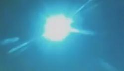 Une boule de feu dans le ciel