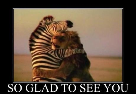 i am glad to see you
