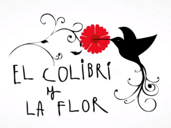 El colibri y la flor. Colombie.