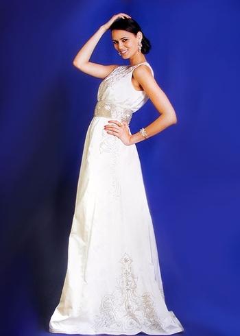 Caftan-marocain choix de 2015-blanc-avec perle et broderie haute couture a petit prix KAF-S884