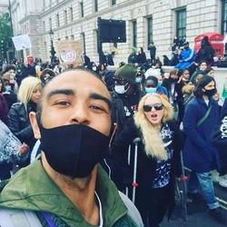 Madonna à la manifestation 'Black Lives Matter' à Londres