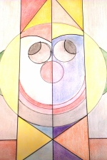 Clown géométrique