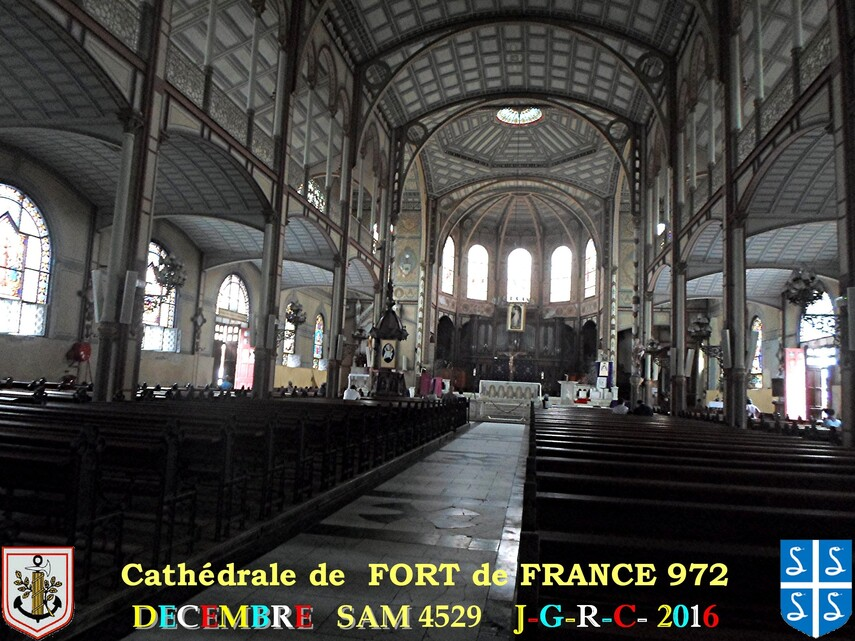 EGLISE DE MARTINIQUE:  Cathédrale de FORT de FRANCE  1/5       D 16/05/2017