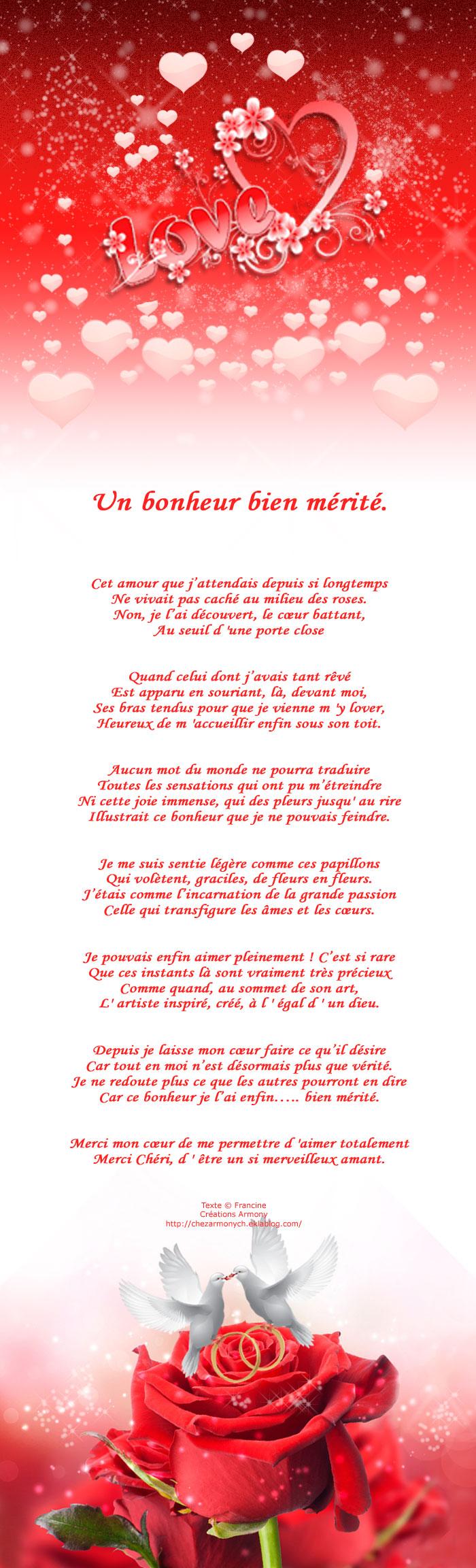 poème st-valentin Mon Valentin