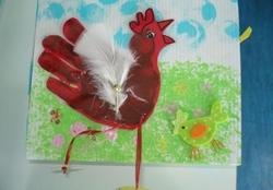 Des poules avec les mains!