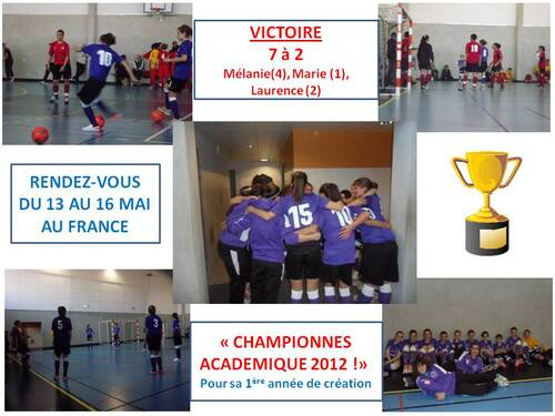 LES DOUBLES CHAMPIONS ACADÉMIQUE !!!!