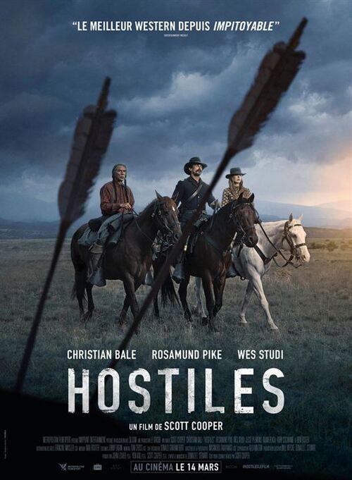 """""""Hostiles"""" un magnifique western, poignant, très dur, mais en même temps profondément humain, à voir !"""