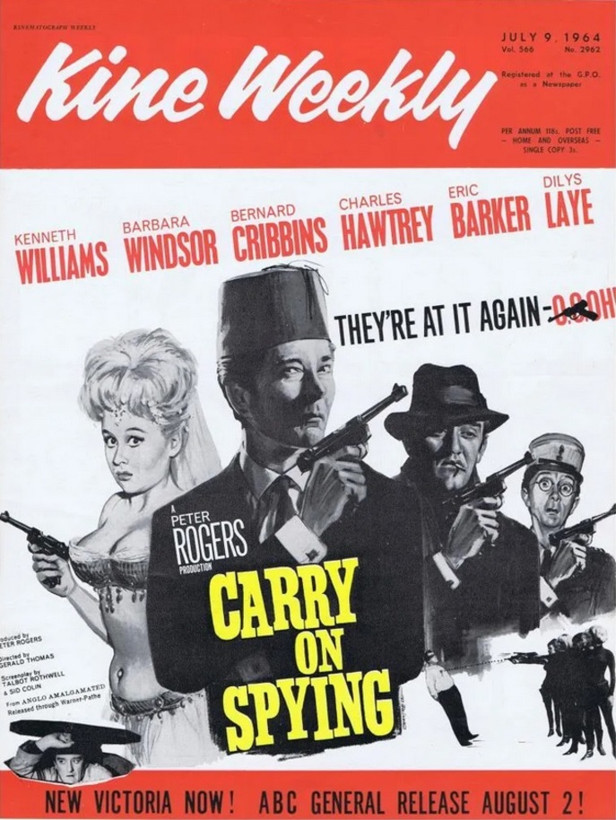 CARRY ON SPYING BOX OFFICE USA 1964
