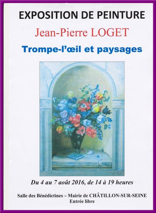 Jean-Pierre Loget exposera du 4 au 7 août ses trompe l'oeil et ses paysages...